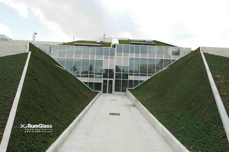 نمای شیشه ای باغ کتاب تهران | لامل گاتمن آلمان