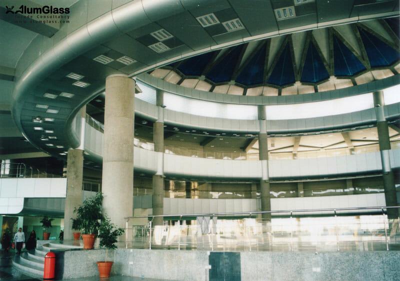 پوسته کامپوزیت پنل تکمیل شده در وید اصلی ترمینال- آلومینیوم شیشه تهران