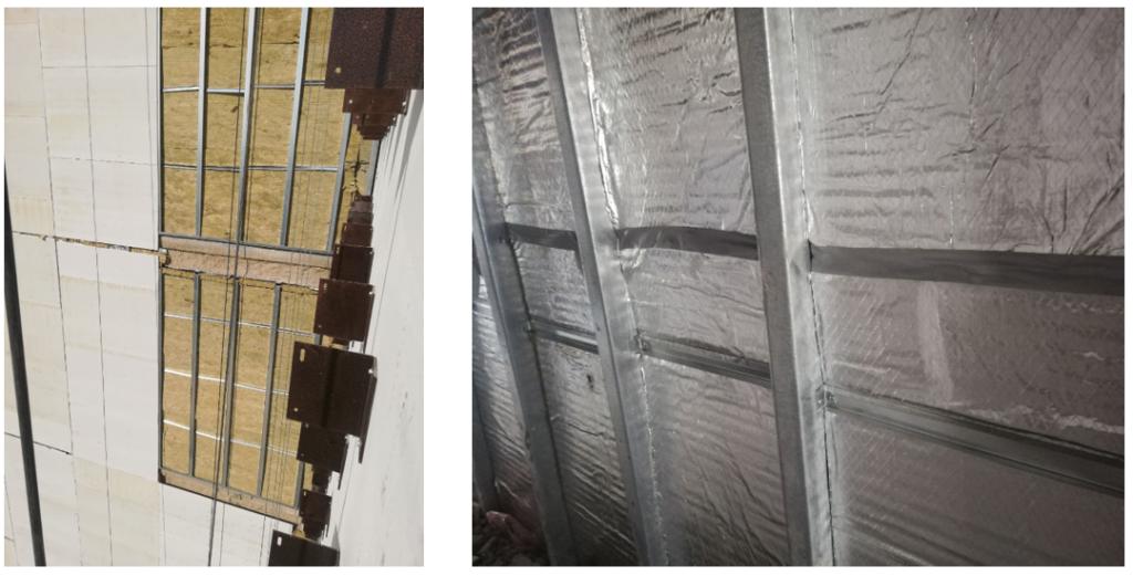 استفاده از پشم سنگ به عنوان عایق حرارتی در بخش میانی سازه LSF
